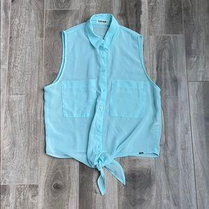 Women's Garage sleeveless tie top